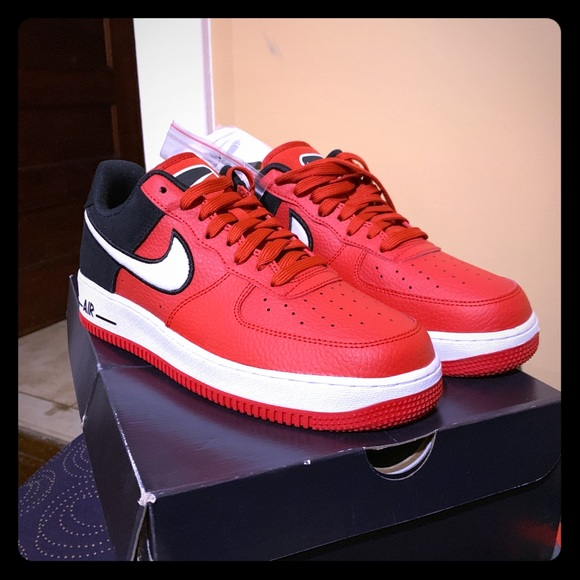 nike air force red black and white